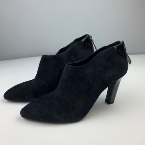Franco Sarto Size 7.5 M Black Vella Ankle Booties